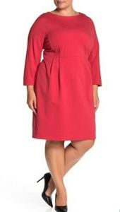 LAFAYETTE 148 NEW YORK SOLID SHEATH DRESS.